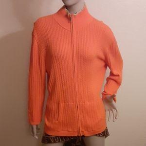 Lauren by Ralph Lauren orange sweater